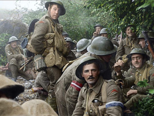 """They Shall Not Grow Old"" director Peter Jackson has restored, colorized and added 3-D depth to 100-year-old footage from the archives of the Imperial War Museum."
