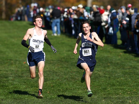 Chatham's Colin Logsdon fights to the finish with Mendham's