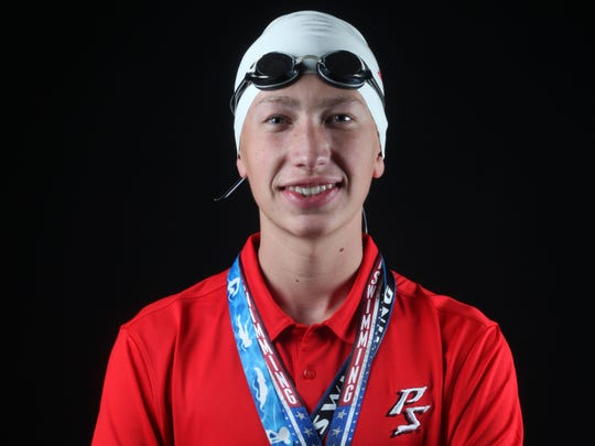 Christian Meyer, a sophomore swimmer at Palm Springs, could challenge for DVL titles in seven different events this spring.