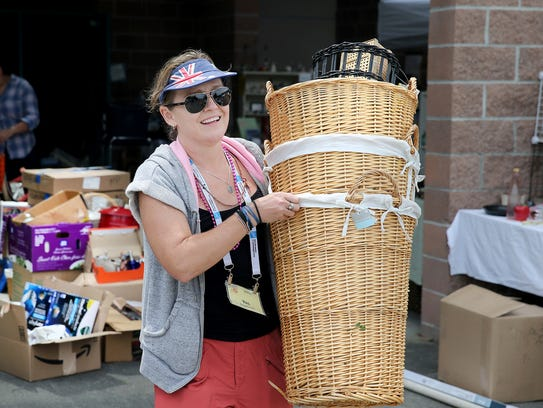 Yas Grigaliunas from Brisbane, Australia puts out baskets
