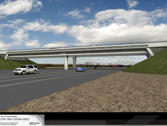 New Stillwater Road overpass over Highway 44