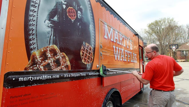 Armed with a custom-built food truck and a delectable waffle recipe, Marty Meersman and his Marty's Waffles have taken the region by storm.