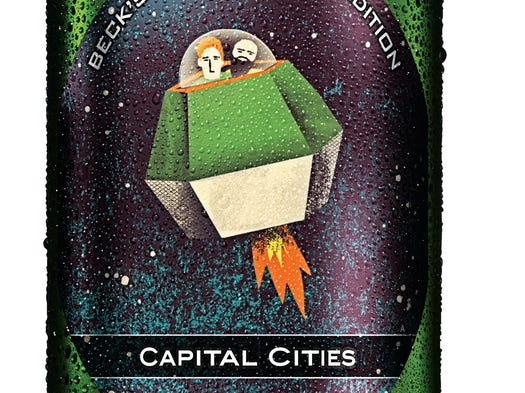 Artists meet alcohol in the latest installment of Beck's Live Beyond Labels series, which commissions artists to create original designs that will be featured on the brand's beer labels this summer.Here is the label designed by 'Safe and Sound' duo Capital Cities.