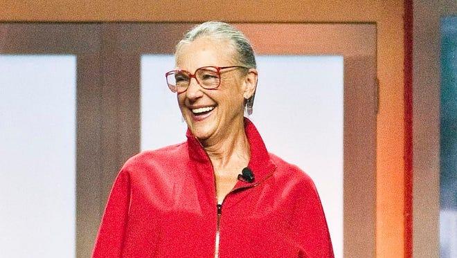 Alice Walton, daughter of  Walmart founder Sam Walton, at the 2012 Walmart shareholders' meeting in Fayetteville, Ark.
