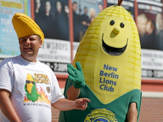 New Berlin Lions Club offers roasted corn on the cob.