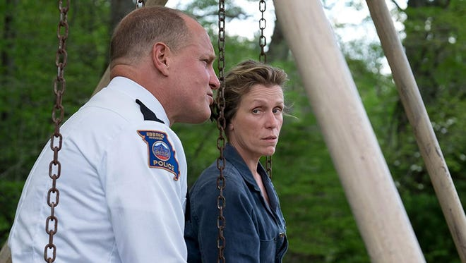 """Woody Harrelson and Frances McDormand in a scene from """"Three Billboards Outside Ebbing, Missouri"""""""