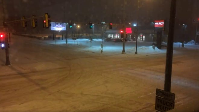 A look at 10th and Minnesota as of 8:35 p.m.