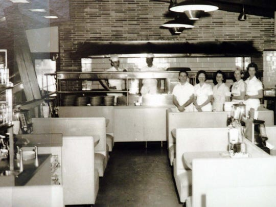 A photograph at the Historical Society of Delaware of The Charcoal Pit in the late 1950s. The Concord Pike restaurant was founded by the Sloan brothers. Louis Sloan, the last remaining brother, died Aug. 27.