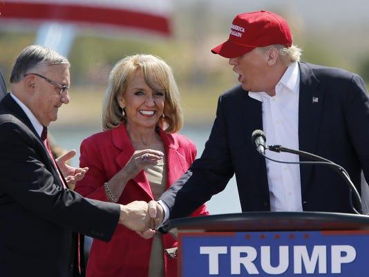 Donald Trump campaigns in Arizona