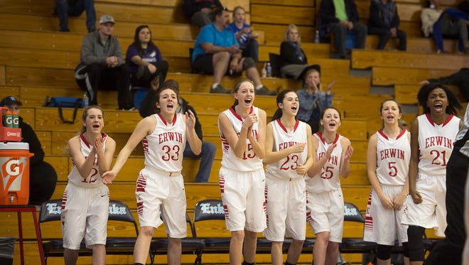 The Erwin girls are in Friday's championship finals of the Mountain Athletic Conference basketball tournament.