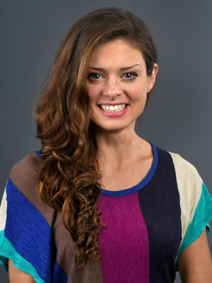 """Knoxville native Hali Ford will compete on """"Survivor"""" again on the upcoming season that premieres March 8. She was in the News Sentinel studio Feb. 16, 2017."""