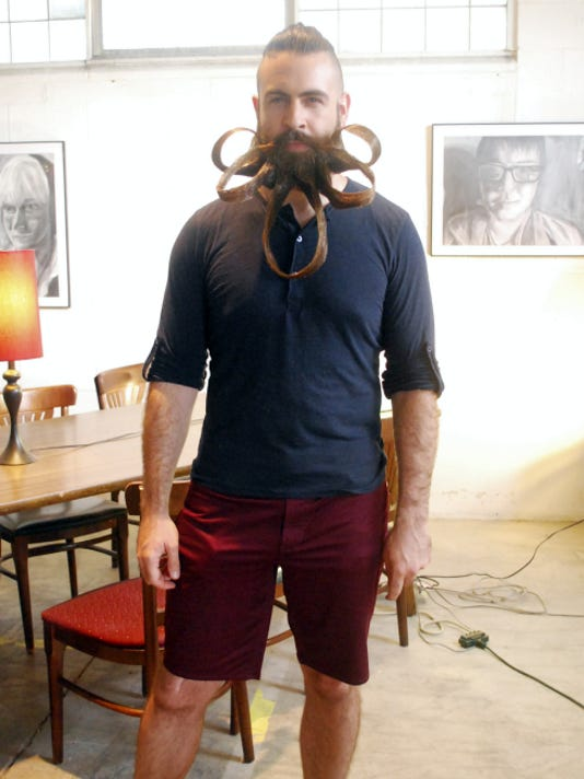 Incredibeard judged The Thought Lot's Bearding Man contest in September, 2014.