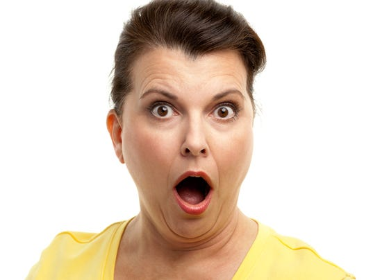 Shocked Woman Gasping
