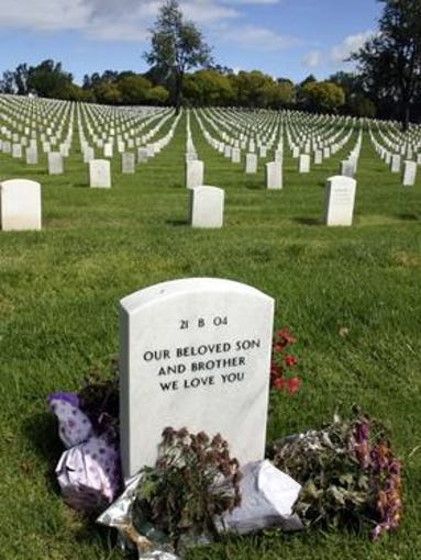 "The Los Angeles National Cemetery. ""I was the only"