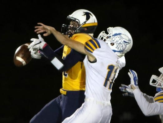 A pass to Whitnall's Dillon Peters is knocked down