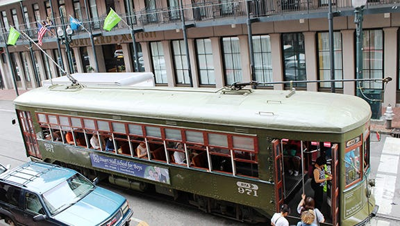 Hop onto the oldest operating streetcar in downtown New Orleans.