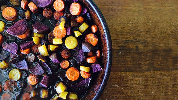 Roasted Carrot dish.