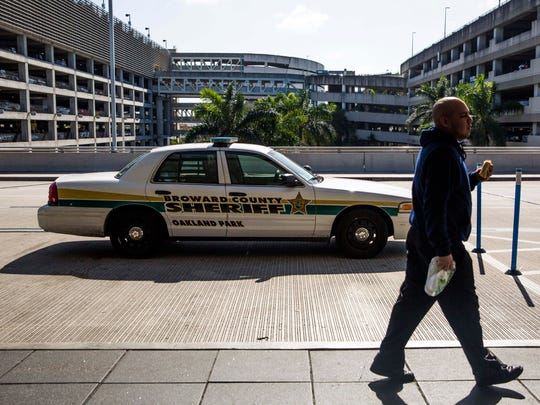A Broward County Sheriff's Department patrol car is