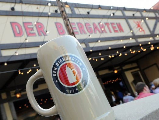 Der Biergarten specializes in authentic German beer