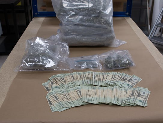 Marijuana and cash seized by Sioux Falls police in