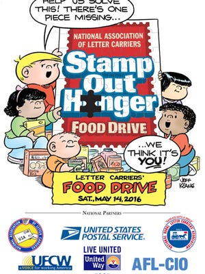 Stamp out hunger takes place on Saturday, May 14.