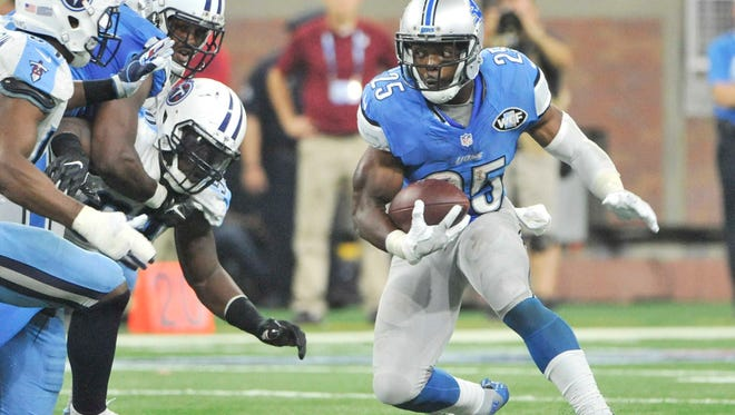 Lions running back Theo Riddick is expected to pick up the slack with Ameer Abdullah out due to injury.