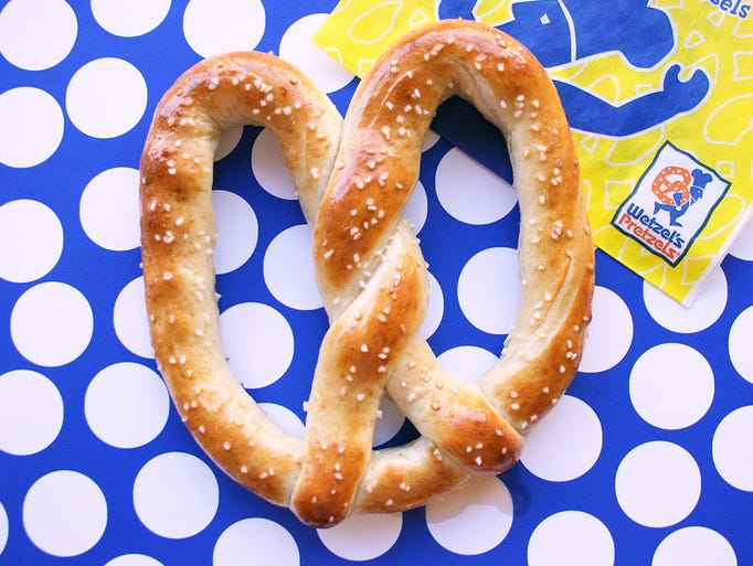 Wetzel's Pretzels  | No purchase needed to get a free