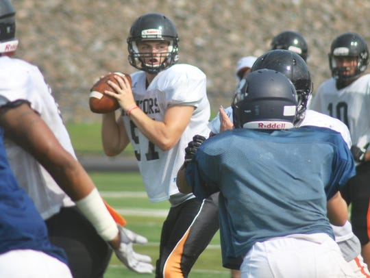 James Klenk threw two touchdown passes in Friday's game.