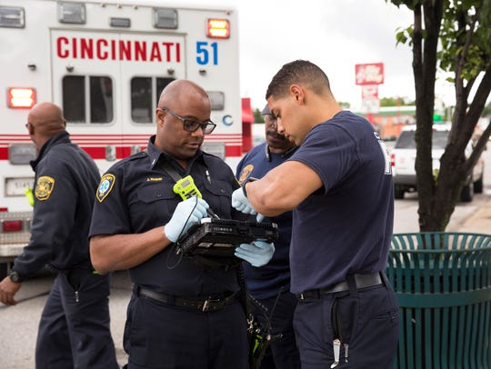Firefighter/ paramedics review records of a man, 61,