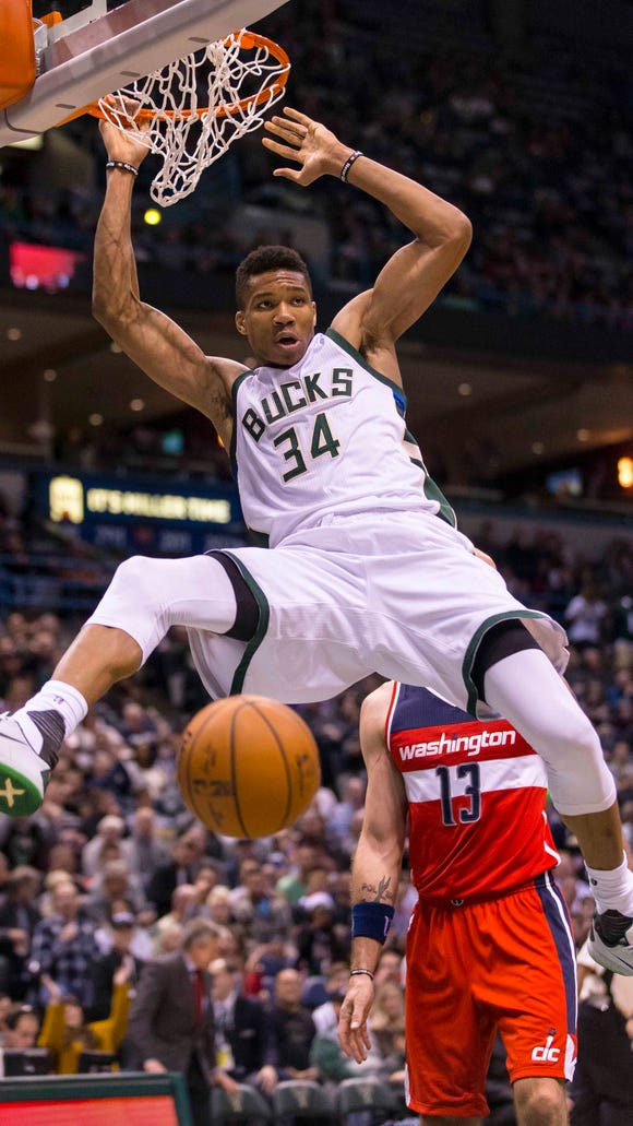This video of every Giannis Antetokounmpo dunk this year feels like a glimpse into the future