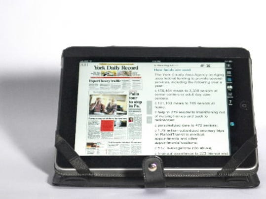 The York Daily Record/Sunday News E-edition on an iPad. (DAILY RECORD/SUNDAY NEWS -- KATE PENN)