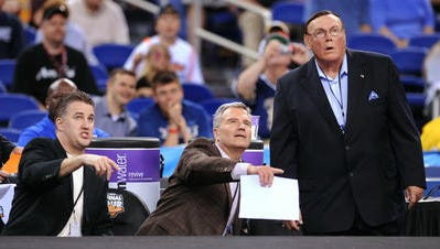 Matt Painter and Bruce Weber, shown here in 2010 coaching with Gene Keady at the Reese's College All-Star Game, will be reunited in the first round of the 2014 EA Sports Maui Invitational.