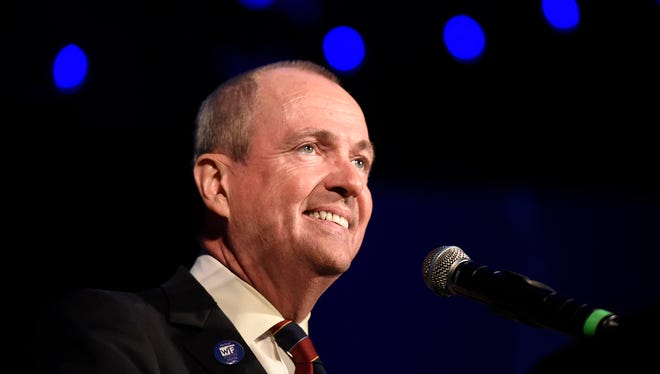 Democrat Phil Murphy is the governor-elect of New Jersey. Murphy gives his victory speech at the Asbury Park Convention Hall on Tuesday, November 7, 2017.