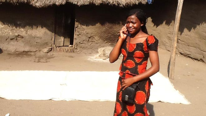 Kavira Miembre, who lives in the Democratic Republic of the Congo, is being encouraged to learn English.