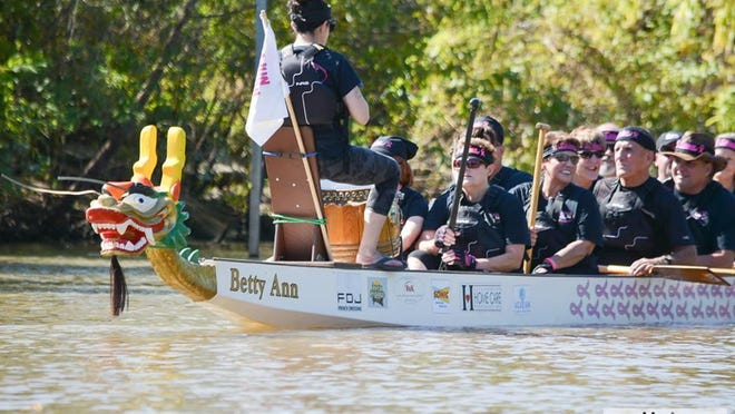 Breast cancer survivor Neppie Trahan and her husband Freddy were inspired by women who competed at a Canadian dragon boat festival and demonstrated people with the disease can lead full, active lives despite the physical limitations imposed by the disease.