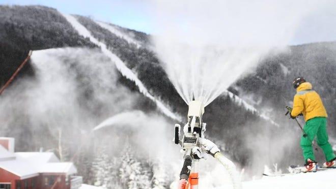 Making snow at Sugarbush Resort.