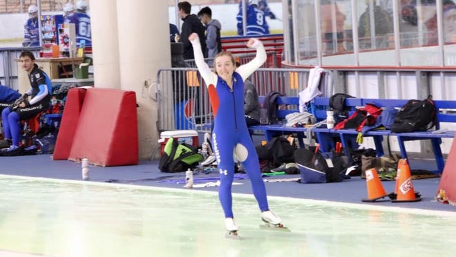 Wauwatosa East skater Samantha Snyder competed in China this month for speedskating.