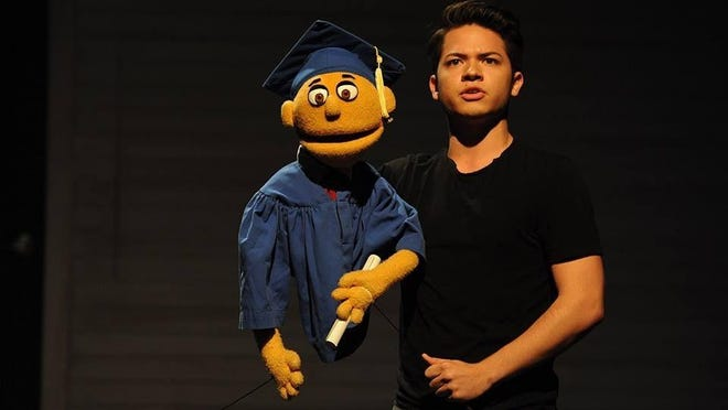 """Actor Derek Quesada plays the lead role of Princeton in Theatre Tallahassee's production of """"Avenue Q."""""""