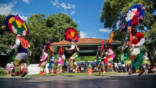 Dancers perform the Danza de la pluma (Feather Dance) during the eighth annual Guelaguetza Festival in Poughkeepsie Aug. 7.