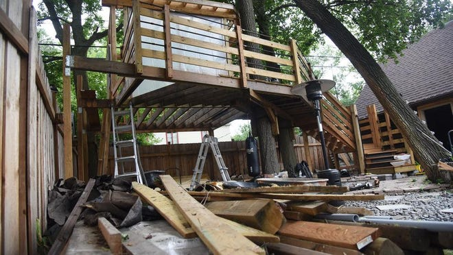 An elaborate treehouse has put an Ann Arbor couple at odds with the city and neighbors.