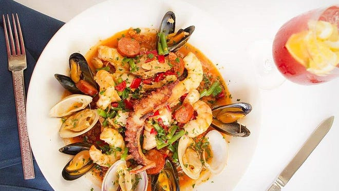 On Thursday, PB Catch will showcase head chef Aaron Black's version of paella, Spain's famous rice dish. Black's paella features Bomba rice, saffron, tiger shrimp, clams, mussels, scallops, octopus and andouille sausage.
