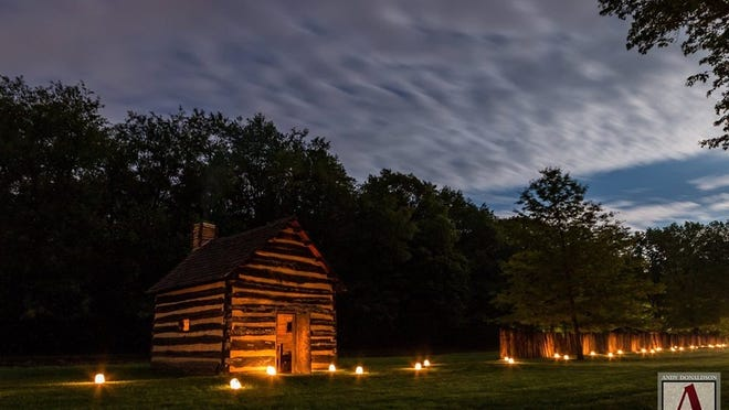 Historic Schoenbrunn Village, 1984 E. High Ave., New Philadelphia, will hold autumn lantern tours from 7:30 to 9:30 p.m. Sept. 18 and 19. Pictured: A cabin in Historic Schoenbrunn Village. PHOTO PROVIDED
