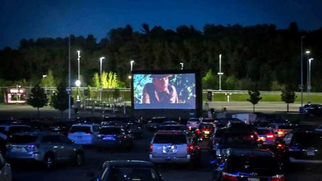 Showcase Cinemas de Lux, in partnership with Patriot Place, has launched a new Pop-up Drive-in movie experience. The series started last week with a showing of 'Indiana Jones: Raiders of the Lost Ark.'