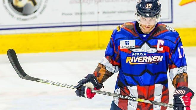 Veteran Peoria Rivermen captain Alec Hagaman will lead the team into its 40th season when the 2021-22 SPHL campaign opens Friday at Vermillion County.