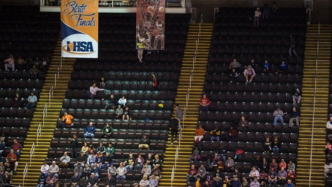 Empty seats were common in recent years at Carver Arena in Peoria during the high school boys basketball state finals. The event, which had played in Peoria for a quarter-century, is headed to Champaign for the next three years.