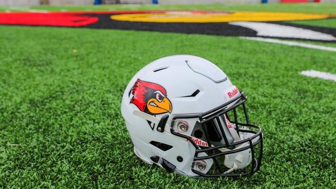Illinois State football helmet.