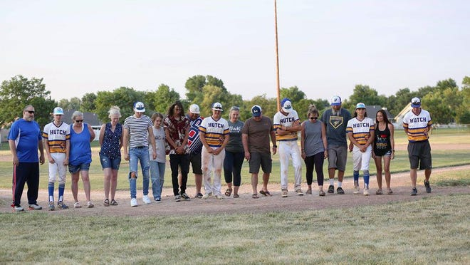 Hutchinson High School 2020 graduates of the baseball team were recognized Wednesday night at Rice Park.