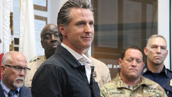 Governor Gavin Newsom visits Ridgecest July 6, 2019 in this file photo