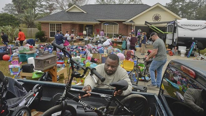 Plan your garage sale, which can be both fun and exhausting. Shown is a charity yard sale in Bryan County in 2019.