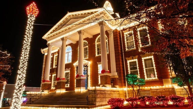 The traditional lighting up of the Paris Courthouse will be 7 p.m. Friday, Nov. 27, with a Christmas parade the following day.